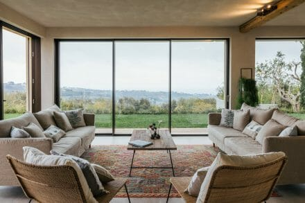 panoramic views from sitting room